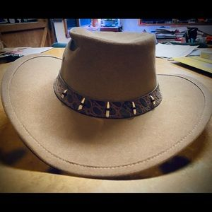 Australian wife-brim suede sun protecting hat